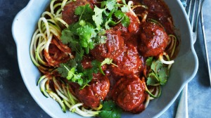 A new spin on spaghetti and meatballs.