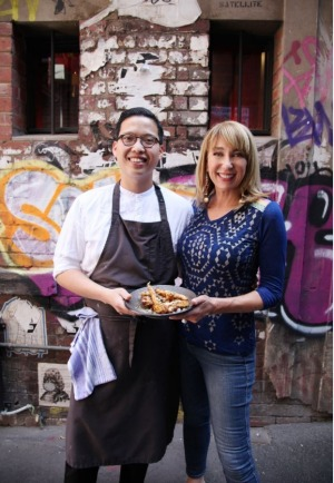 Chef Victor Liong and Maeve O'Meara in 'Food Safari Earth'.