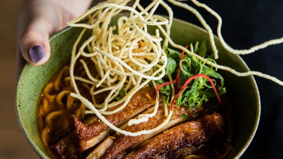Newcomer: A noodle dish from Longrain in Tokyo.