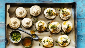 Meringues offer sticky deliciousness.