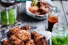 Chilled sriracha-fried chicken and pickles <a ...
