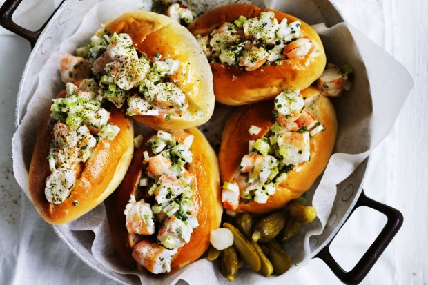 Adam Liaw's prawn rolls with celery salt <a ...