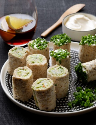 Jill Dupleix's crab and avocado rolls <a ...
