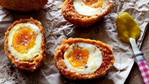 Chorizo Scotch eggs.