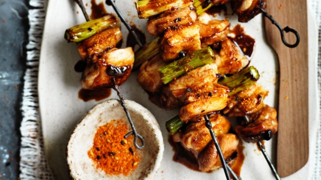 Neil Perry's grilled yakitori chicken recipe.