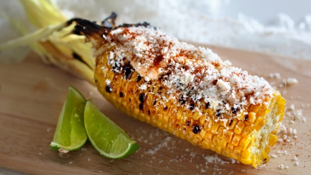 Barbecued corn with chipotle mayo.