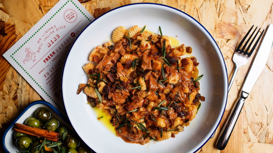 Mr Liquor's Dirty Italian Disco's gnocchetti with braised lamb and rosemary.