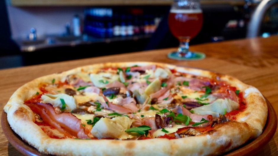 Bridge Road's Burnley Brewing serves house-made pizzas.