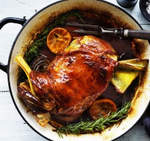 Slow-cooked Tunisian lamb with rosemary