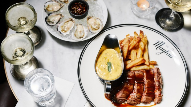 Luxurious late night feasting at Mayfair.