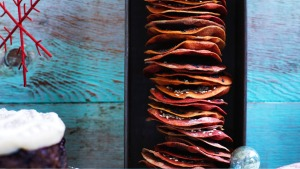 Sun-blushed Christmas crackers Recipe for Good Food : Dan Lepard DIY Christmas Hamper Photograph by William Meppem