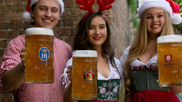 Hit up Munich Brauhaus for festive vibes (and steins).