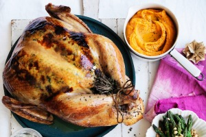 Check the temperature of your roast turkey.