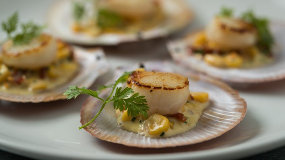 Seared Hervey Bay Scallops at Rick Stein At Bannisters.