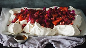 Garnish your pavlova with fresh fruit for a real treat
