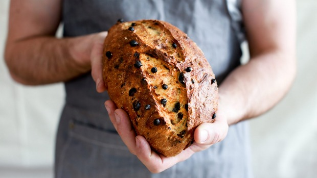 Orange and raisin loaf at Three Mills Bakery, Canberra.