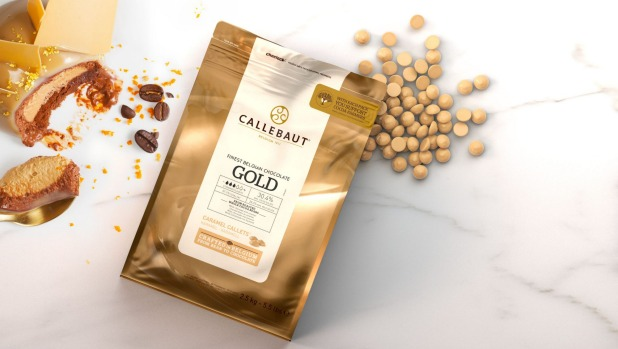 Callebaut's gold chocolate has a delicious toasted caramel flavour.