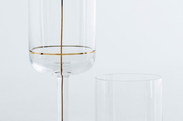 Wine glass, $54; water glass, $33, hayshop.com.au.