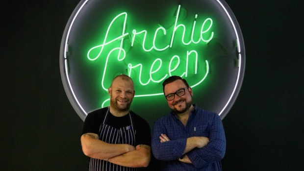 Chef Andrew Braham, left, and Paul Hourigan from Archie Green.