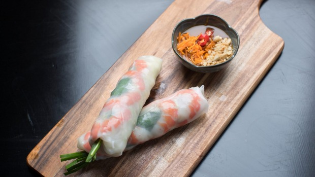 Vietnamese classics such as rice-paper rolls are on the menu.