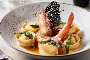 Tortellini with brown butter and king prawns at White Rabbit.