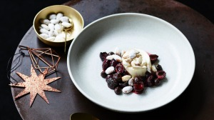 Andrew McConnell's roasted cherries with Christmas spices.