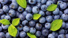 Blueberries are rich in anthocyanins.