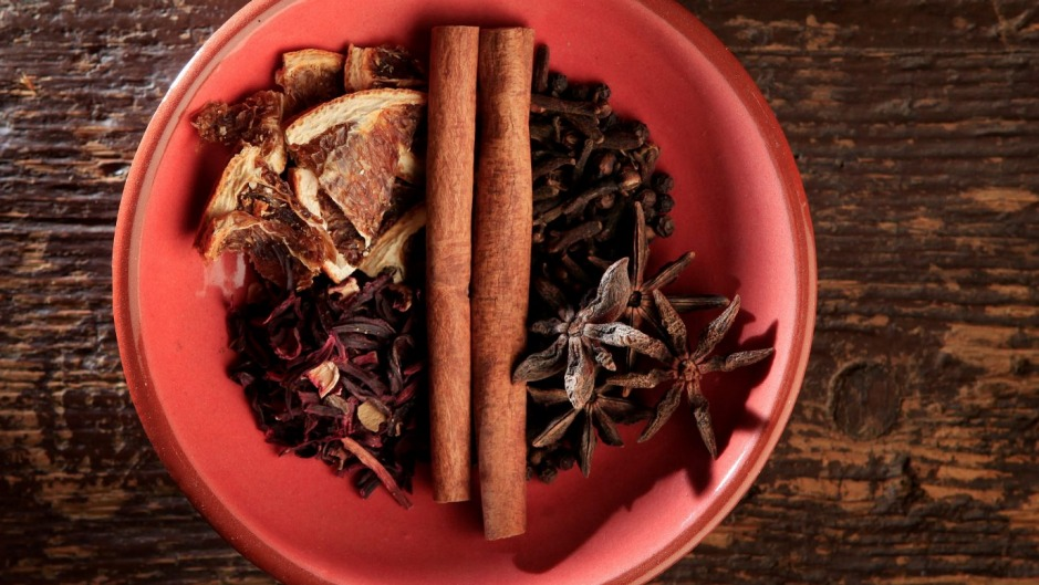Take a cue from mulled wine and add Christmassy spices to tea or porridge.