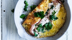Reserve some glaze to drizzle over a Christmas-ham omelette, suggests Phil Wood.