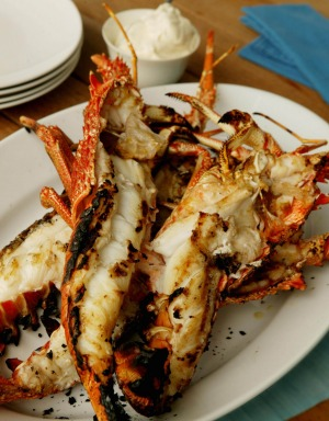 Crayfish is one of 20 things to barbecue with a coating of mayo.