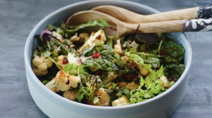 Smoky roast cauliflower salad.