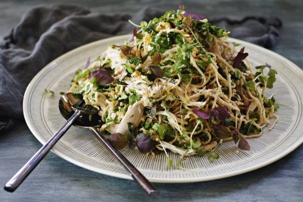 11. Katrina Meynink's substantial salads including this poached chicken and soba noodle salad with chunky nut Sriracha ...
