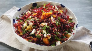 Beetroot salad with a perfumed dressing.