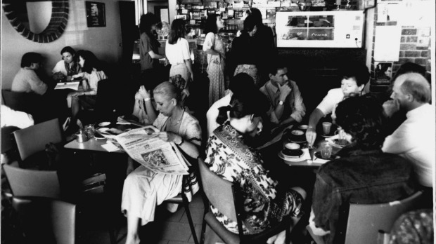 A busy breakfast scene at Bill and Toni's in 1990.
