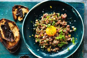 Steak tartare with Vegemite toast ticks two trends.