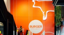 Reaching new heights: The Burger Project on Bourke street is two storeys.