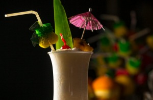 Go-to drink: the pina colada.