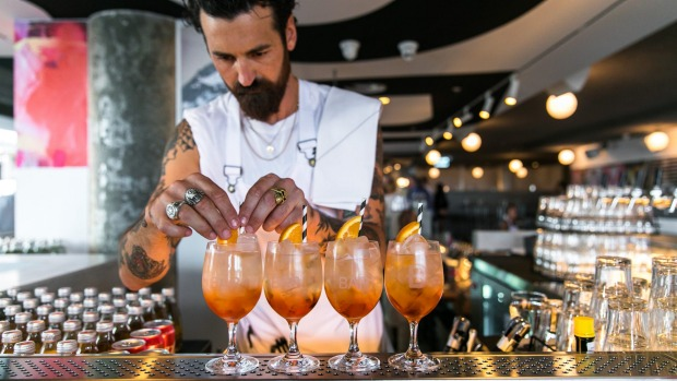 Bondi Beach Public Bar is big on the spritz. - Bondi Beach Public Bar Review Bondi Beach Review 2018