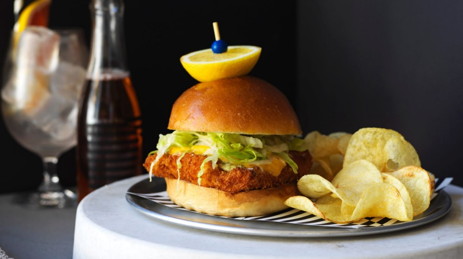 The crispy fish sandwich.