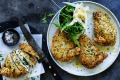 Chicken Kiev with garlic butter.