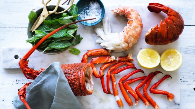 Kylie Kwong's Poached lobster. Photo William Meppem Styling Hannah Meppem