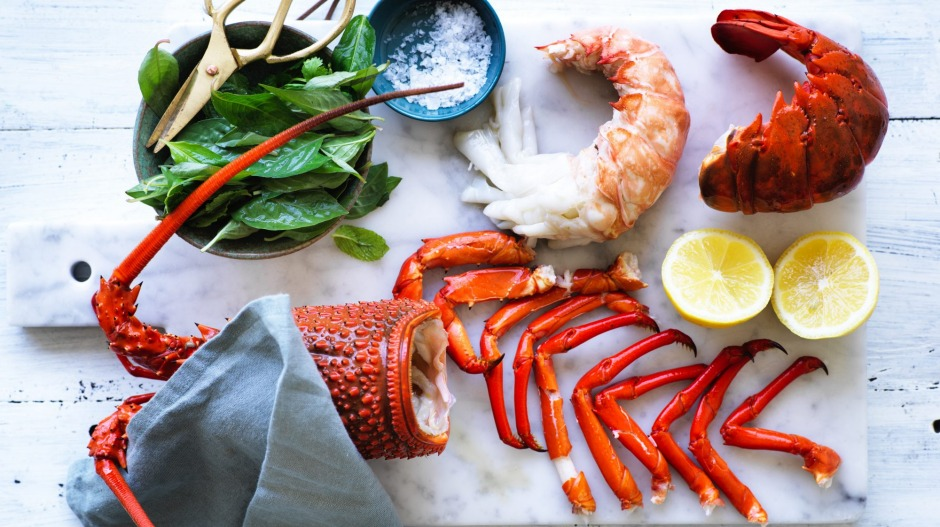 Kylie Kwong's poached lobster.