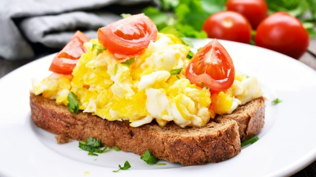 Eggs on toast are a good start to the day - full of protein and sure to keep you fuller for longer.
