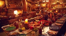 Splendid spread: the feast at Hobbiton in Matamata, New Zealand.