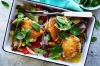 Adam Liaw's summer one-tray wonder: Chicken, capsicum and basil tray bake <a ...