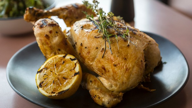 Lemon and thyme roast chicken.
