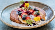 Sweet potato pancake with chia coconut yoghurt.