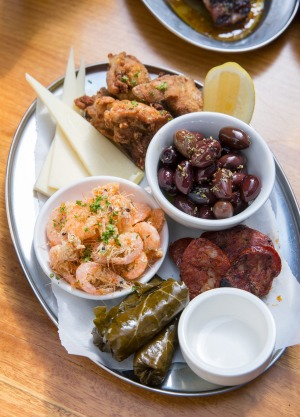 The mezze plate.