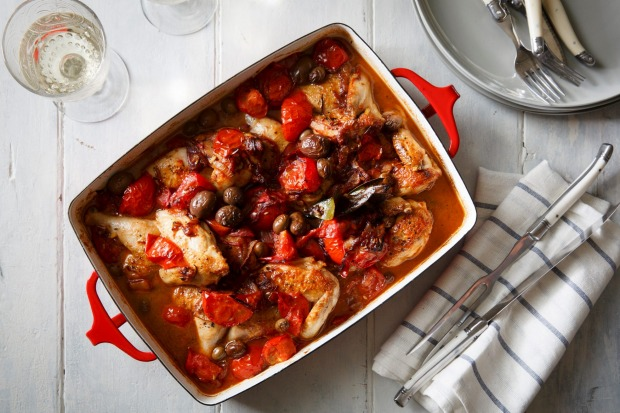 Karen Martini's Spanish chicken with sherry and tomatoes <a ...