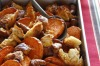 Spicy snags: Bill Granger's baked merguez sausages with crunchy bread and sweet potato <a ...